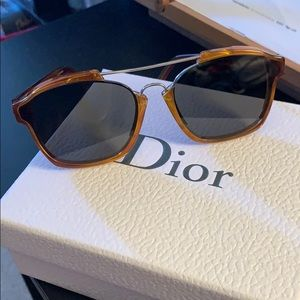 Dior abstract sunglasses in brown